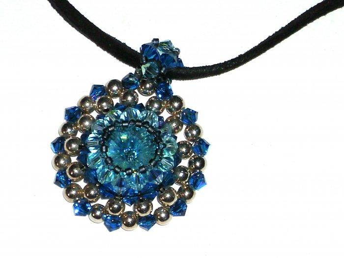 Handcrafted swarovski crystal pendant