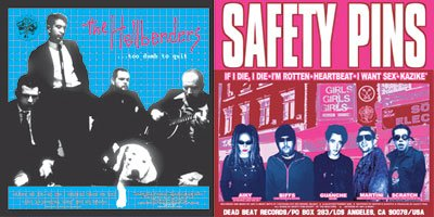 "Hellbenders - Safety Pins ""Split"" LP"