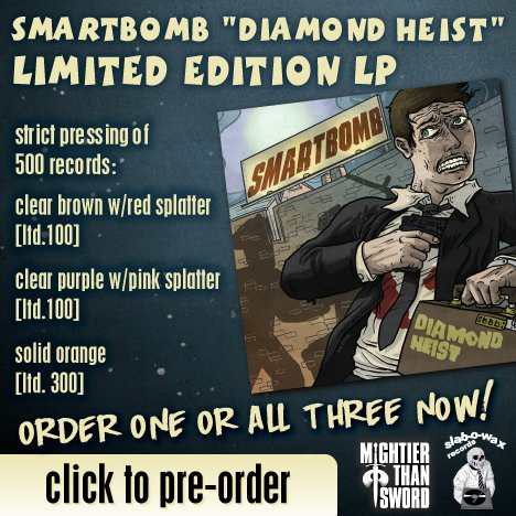 """Smartbomb """"Diamond Heist"""" ALL 3 LPs OUT NOW!!!"""