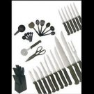 36pc Knife/Block/Utensil Set