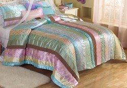 Tea Party Full / Queen Comforter With 2 Shams