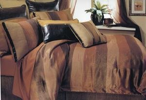 Bronze And Gold Metallic Print Oversized Queent Bed In A Bag.