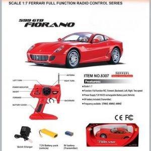 Remote Control Ferrari 599 Gtb Fiorano Red 1/7 Scale Rc