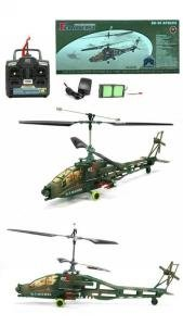Remote Control 4 Channel Apache Rc Helicopter Ready To Fly