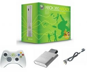 Microsoft Xbox 360 Arcade System - 5 Games, Wireless Controller And Family Settings