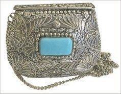 Agate Inlaid Handbag