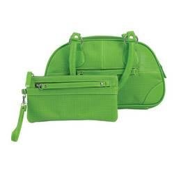 Embassy� Green Faux Leather Purse and Wristlet Set