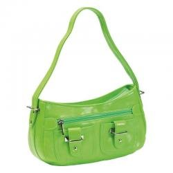 Embassy� Green Zippered Faux Leather Purse
