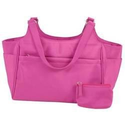 Embassy� Pink Microfiber Purse with Coin Purse