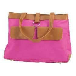 Embassy� Pink Polyester 2 Pocket Purse