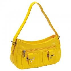 Embassy� Yellow Zippered Faux Leather Purse