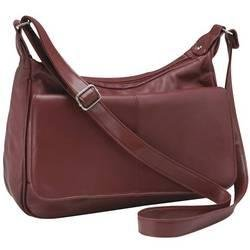 Embassy� Burgundy Solid Genuine Leather Purse