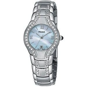 Pulsar Ladies Collection Crystallized With 46 Swarovski Crystals Watch Pxq533