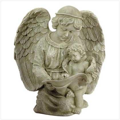 ANGEL READING WITH CHERUB
