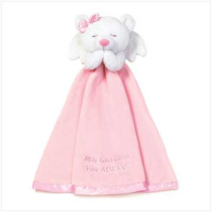 Girl Angel Bear with Blanket