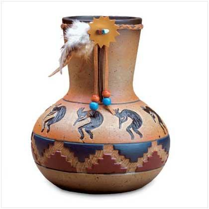 Kokopelli Design Vase