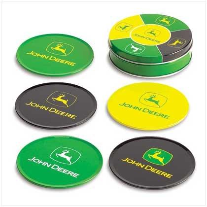 John Deere Tin Coaster Set
