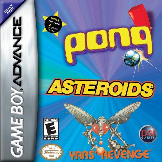 Asteroids/Pong/Yars Revenge- GBA