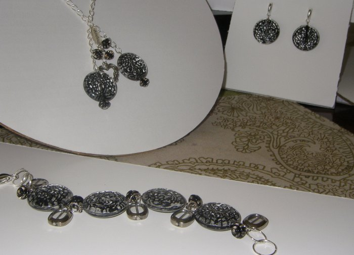 Summer collection black/silver set