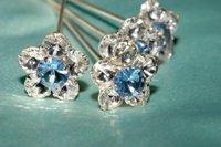 Bella Blue Hair Pins HP23150