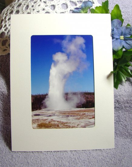 Photo Greeting Card with Envelope, 5x7 Size, Old Faithful Geyser in Yellowstone Park