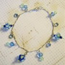Swarovski Crystal and Lampwork Glass Bead Bracelet or Anklet, Handmade, Great Gift