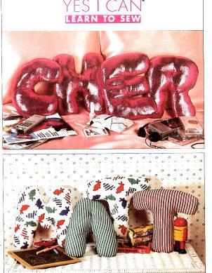 SIMPLICITY 9244 Stuffed Alphabet Pillows Pattern