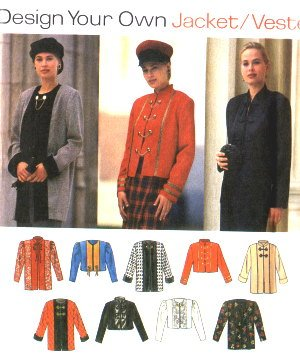 SIMPLICITY 9219 Ladies Design a Jacket Pattern 12-14-16