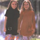 New Look 6661 Girl's Knit Velor Dress Pattern 3-8