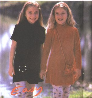 New Look 6661 Girl's Knit Velor Dress Pattern 3-8