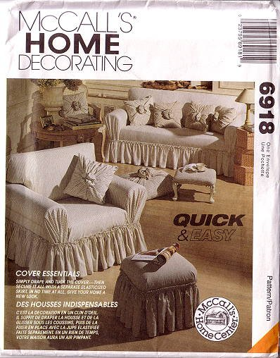 MCCALLS 6918 Quick & Easy Covers For Living Room and Bedroom