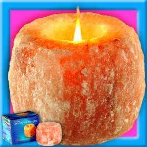 Rock Salt Candles Holders Massage Reiki Semi Natural