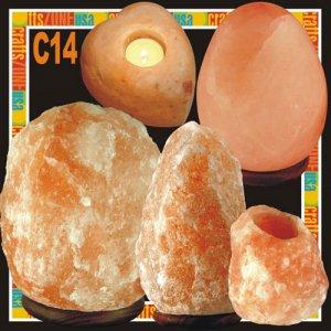 Himalayan Salt Table Lamp - Tealight - C14
