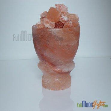 New Premium Quality Himalayan Rock Salt Lamps Firebowl-1 Shape 10~12Lbs