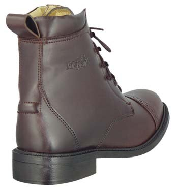 GL LADY LACED PADDOCK BOOTS English HorseRiding Brown 9