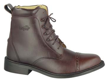 GL LADY LACED PADDOCK BOOTS English HorseRiding Brown 8