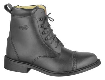 GL LADY LACED PADDOCK BOOTS English HorseRiding Black 9