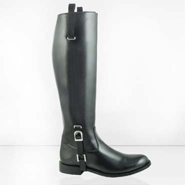 HISPAR DIGNITY LADIES BUCKLE DRESS TALL ENGLISH HORSE RIDING FASHION BOOTS BLACK WIDE