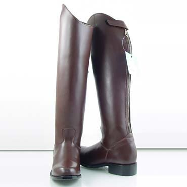 MB3 Womens Mounted Police Horse Riding English Tall Leather Boots