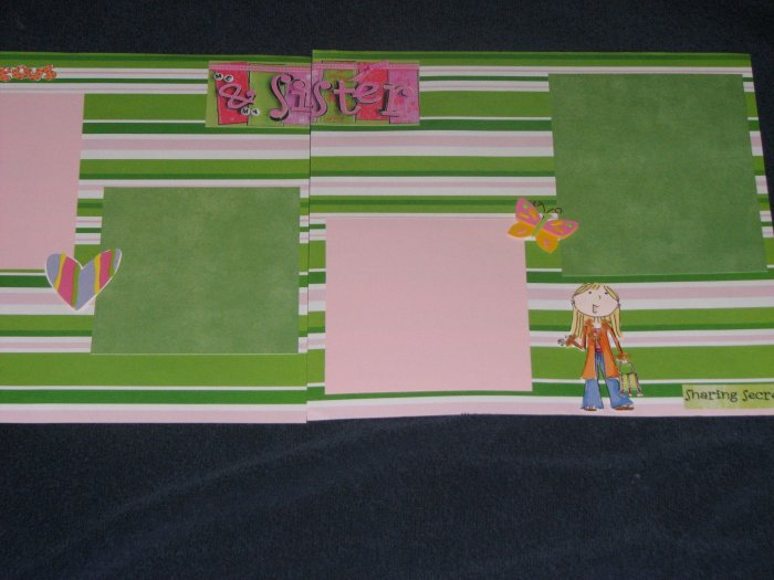 12X12 Sisters Premade Scrapbook Pages