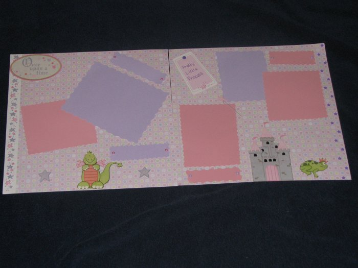 12X12 Pretty Little Princess Premade Pages