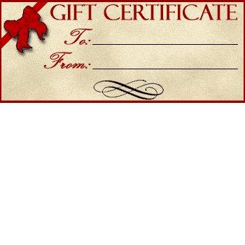 Gift Certificate - Start at $25.00