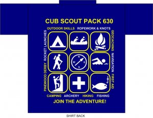 Pack 630 T-Shirt, Youth Large