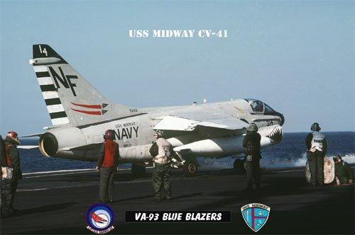 USS Midway Squadron VA-93 Blue Blazers (8x12) Photograph