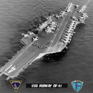 "USS Midway CV-41 ""HI MOM"" (8x12) B&W Photograph"