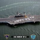 "USS Midway CV-41 ""Happy 45th"" (8x12) Photograph"