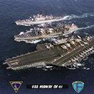 USS Midway CV-41 at Sea During UNREP & Escort (8x12) Photograph