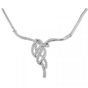14k Gold Diamond Ladies Necklace with round diamonds 2.00 ctw.