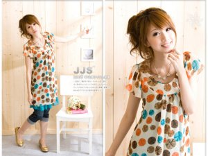 Floral Printed Chiffon One Piece