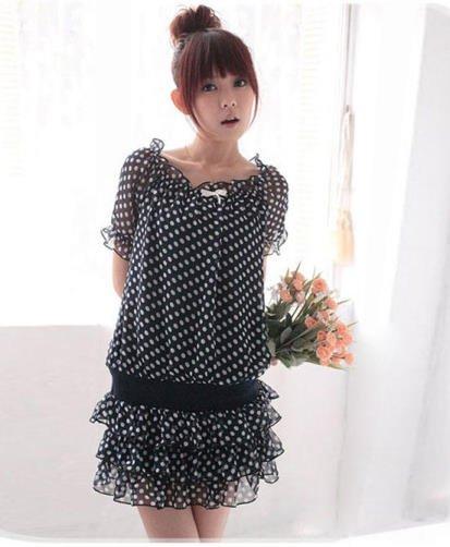 Dot Chiffon Tops/ Dress